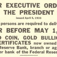 1933 April 5 Gold Confiscation (Presidential Executive Order 6102)